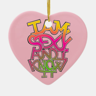 I am sexy and I know it - graffiti Christmas Ornament
