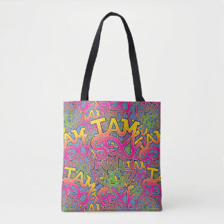 I am sexy and I know it - graffiti Tote Bag
