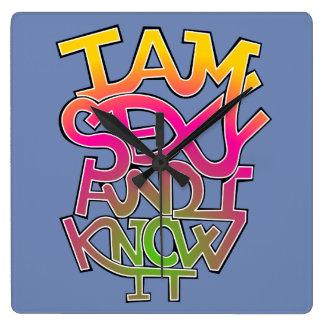 I am sexy and I know it - graffiti Wall Clock
