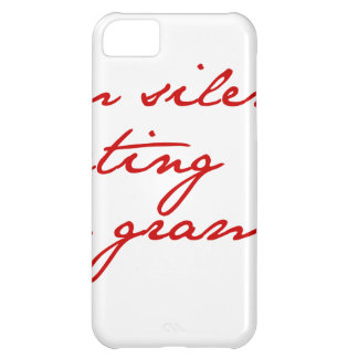 I am silently correcting your grammar-jane-red iPhone 5C cover