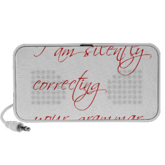 I am silently correcting your grammar-script portable speaker