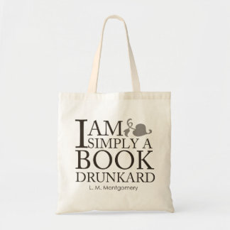 I Am Simply A Book Drunkark Funny Book Lover Quote Budget Tote Bag
