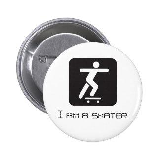 i am skater button