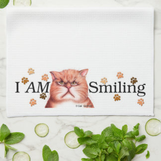 I AM Smiling banner towel