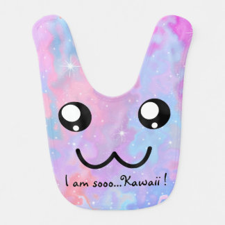 I am so Kawaii Cute Face Anime Adorable Bib
