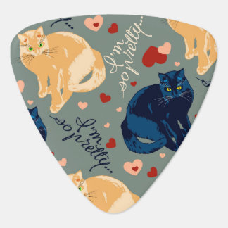 I am so pretty cat! guitar pick
