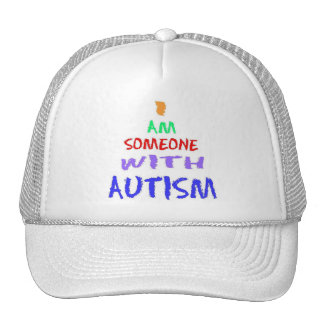 """""""I AM SOMEONE WITH AUTISM"""" (Painted) Cap"""