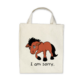 I am Sorry Crying Weeping Foal Young Horse Mug Canvas Bag