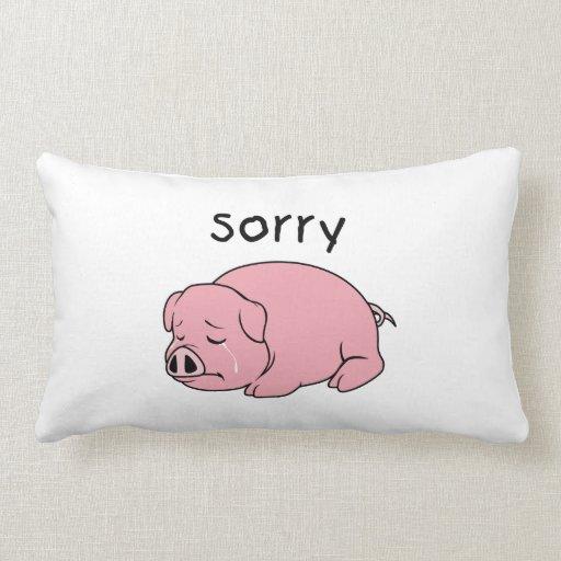I am Sorry Crying Weeping Pink Pig Card Mug Button Throw Pillows