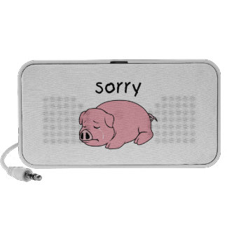 I am Sorry Crying Weeping Pink Pig Card Mug Button Speaker System