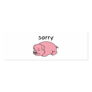 I am Sorry Crying Weeping Pink Pig Hat Mug Cap Business Card
