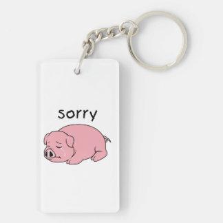 I am Sorry Crying Weeping Pink Pig Hat Mug Cap Acrylic Keychain