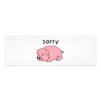 I am Sorry Crying Weeping Pink Pig Hat Mug Cap Photographic Print