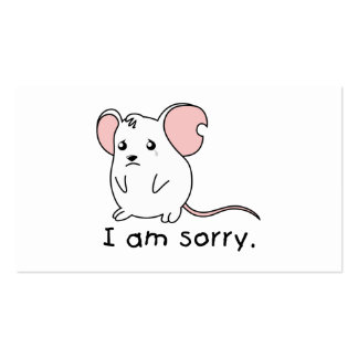 I am Sorry Crying Weeping White Mouse Mug Pillow Pack Of Standard Business Cards