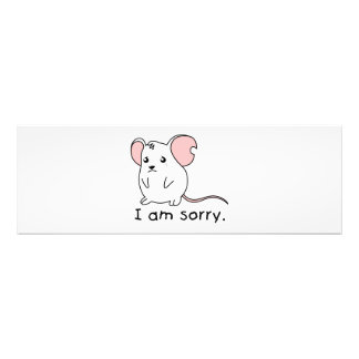 I am Sorry Crying Weeping White Mouse Pillow Mugs Photo Art