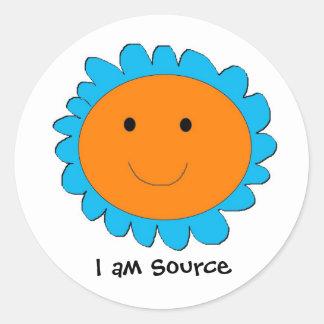 I am Source 2, I am Source Classic Round Sticker