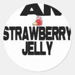 I Am Strawberry Jelly Classic Round Sticker