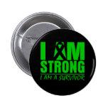 I am Strong - I am a Survivor - Cerebral Palsy 6 Cm Round Badge
