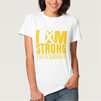 I am Strong - I am a Survivor - Childhood Cancer T Shirt