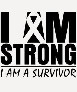 I am Strong - I am a Survivor - Melanoma T-shirt