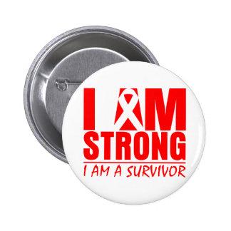 I am Strong - I am a Survivor - Stroke Disease 6 Cm Round Badge