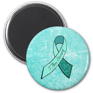 """I Am Strong"" MG Awareness Ribbon Large Magnet"