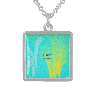 """""""I AM Successful'' Small Sterling Silver Necklace"""