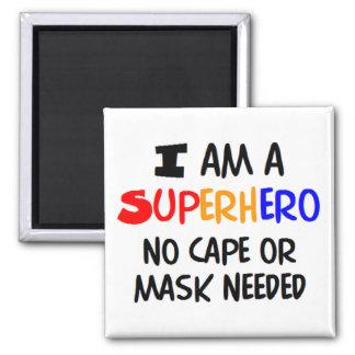 I am superhero fridge magnets