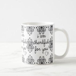 I am thankful for You Basic White Mug