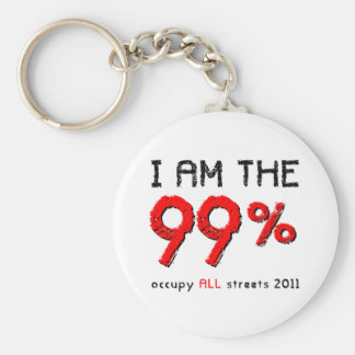 I am the 99% Occupy ALL streets 2011 Basic Round Button Key Ring
