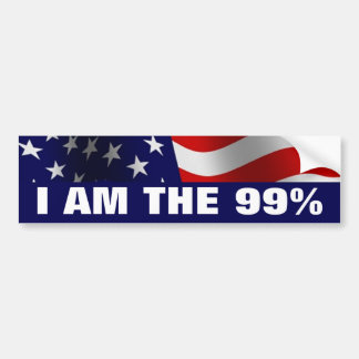 I am The 99 Percent Bumper Sticker