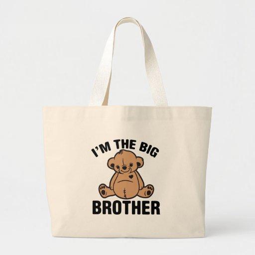 I am the big brother canvas bag