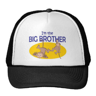 I am the big brother monkey trucker hat