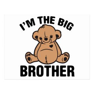 I am the big brother postcard