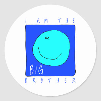 I Am The Big Brother Round Sticker