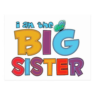 I am the Big Sister Butterfly Postcard