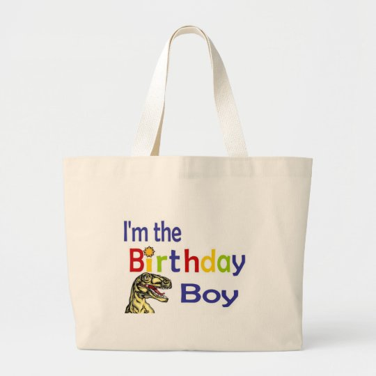 I am the birthday boy large tote bag