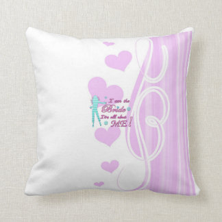 i am the bride about me wedding bachelorette brida throw cushion