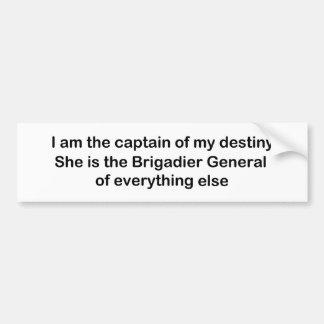 I am the Captain of my destiny Bumper Stickers