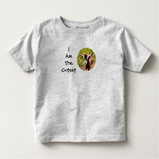 I Am The Cutest Kid (photo of baby goat) Tee Shirt