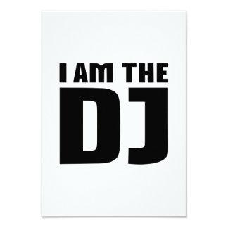 I am the DJ 3.5x5 Paper Invitation Card