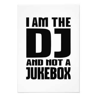 I am the DJ not a Jukebox Personalized Invitations