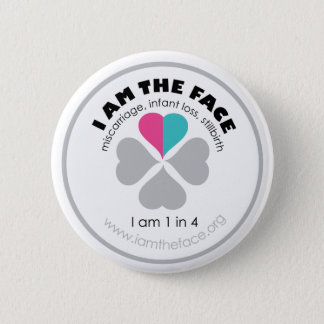 I AM THE FACE Pink and Blue Button
