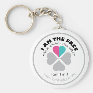 I AM THE FACE Pink and Blue Keychain