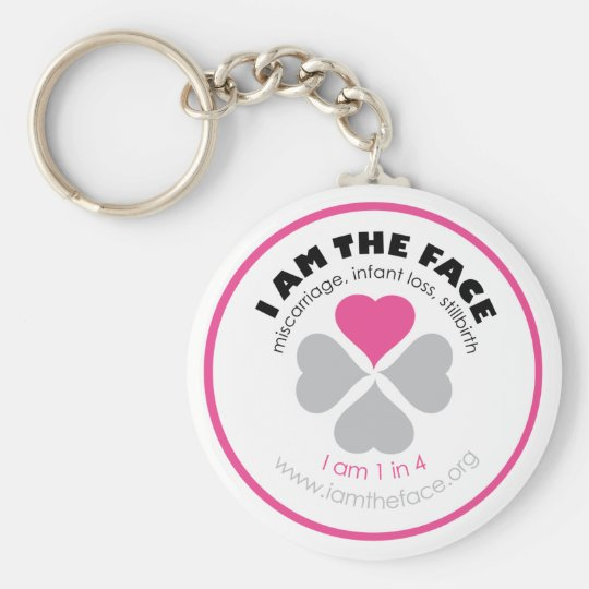 I AM THE FACE Pink Keychain