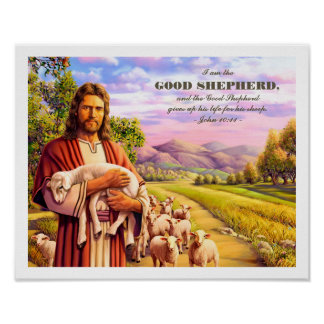 I am the Good Shepherd. Jesus Painting Art Prints