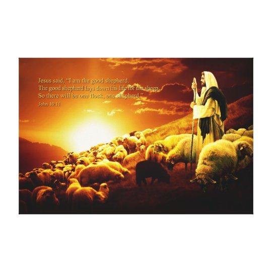 """I am the good shepherd. Wrapped Canvas"