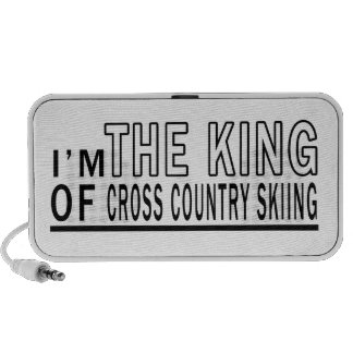I Am The King Of Cross Country Skiing Travelling Speakers