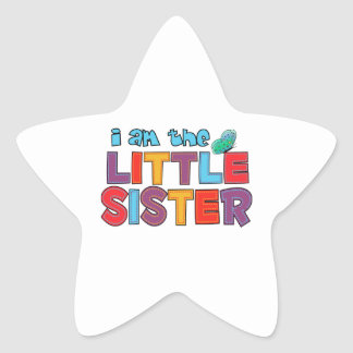 I am the Little Sister Butterfly Stickers