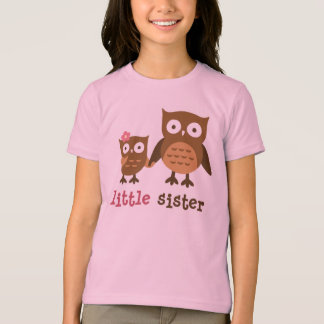I am the little sister - Mod Owl t-shirts